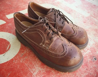 eacba11ba2d Made in England Dr Martens UK Size 5.5 to 6 (US Women Size 7 to 8) Brown  Leather Lace-Up Shoes