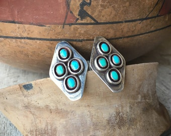 Turquoise Sterling Silver Cuff Links for Men, Native America Indian Southwestern Cufflinks Accessories
