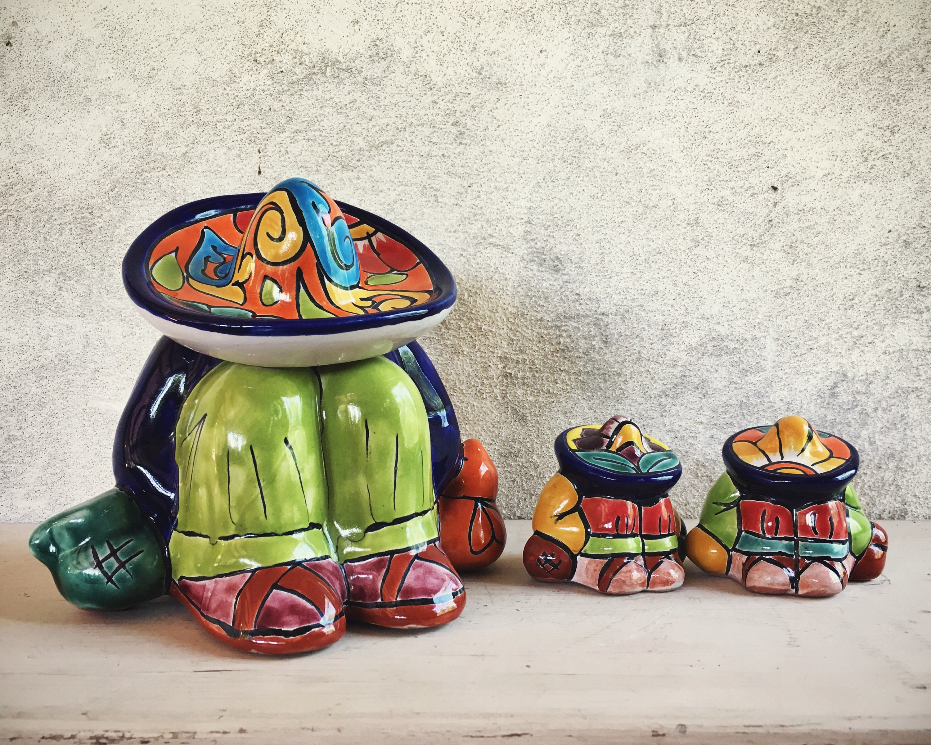 Vintage Talavera Pottery Sleeping Hombre Mexican Rustic Home And Patio Decor