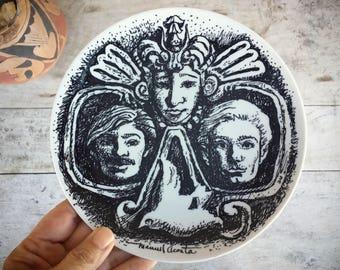 Manuel Acosta Art Commemorative Plate for El Paso, Decorative Plates, Chicano Art