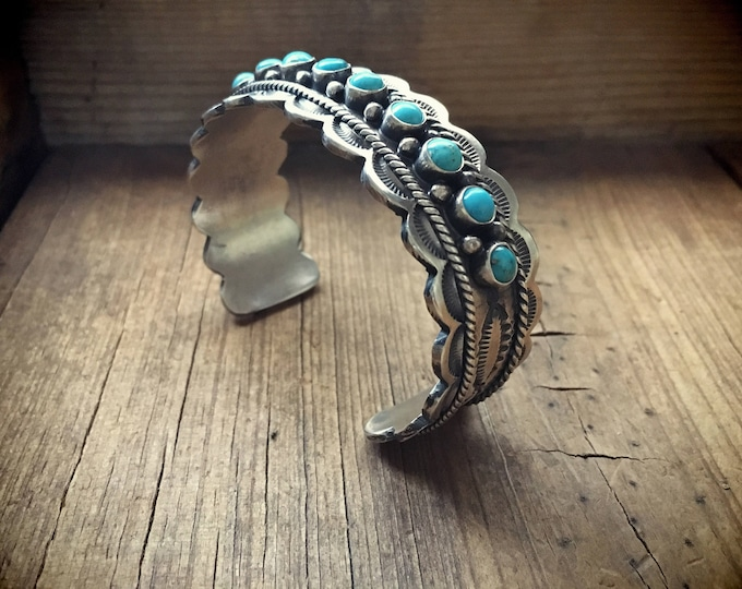 Featured listing image: Native American Sterling Bracelets Navajo Bracelet Turquoise Jewelry