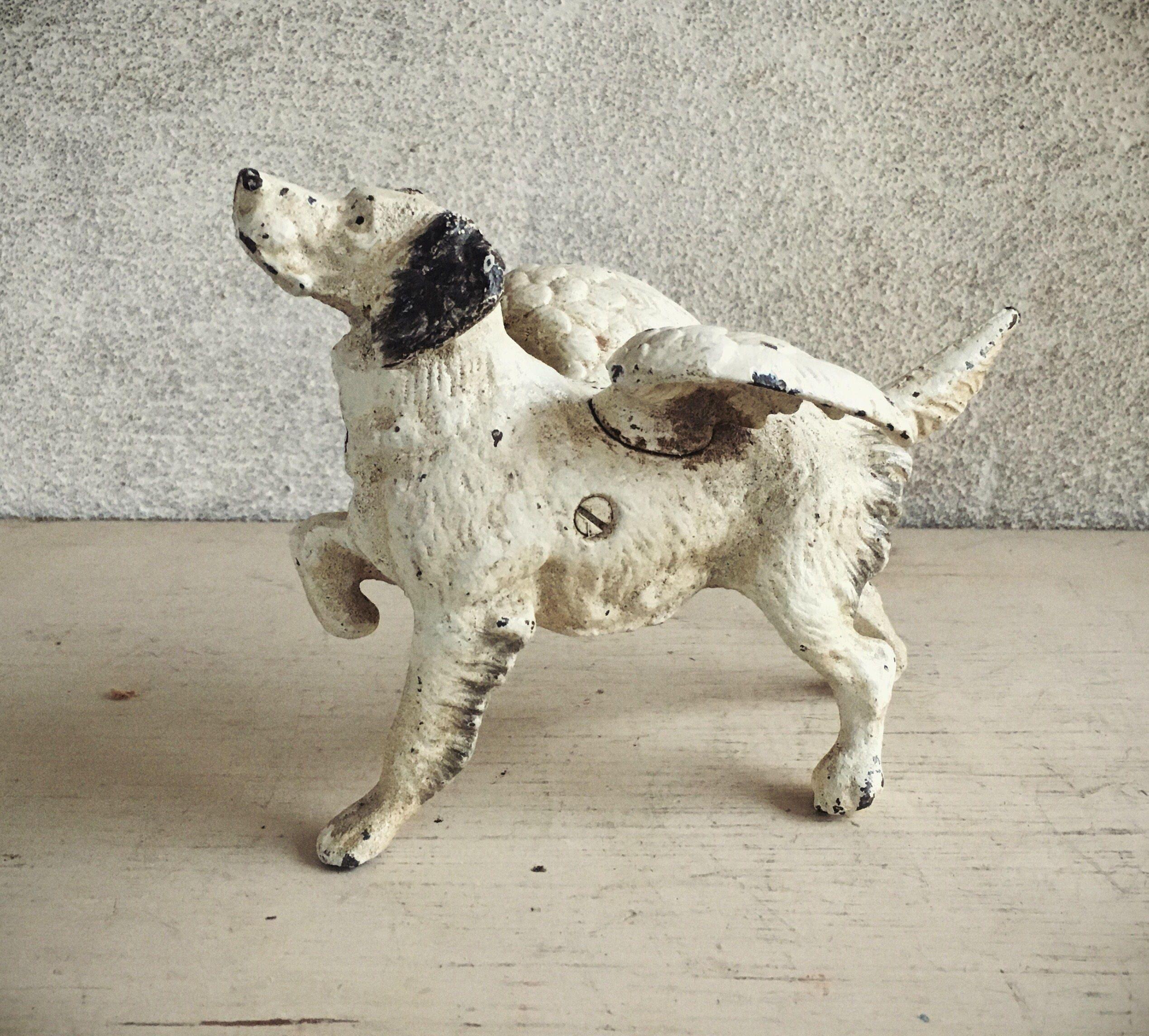 Cast Iron Dog With Wings English Setter Dog Decor Fairy Dog Door