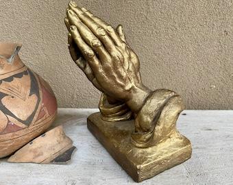 Vintage Plaster Praying Hands of God Sculpture Replica Albrecht Durer, 1962 Austin Prod.