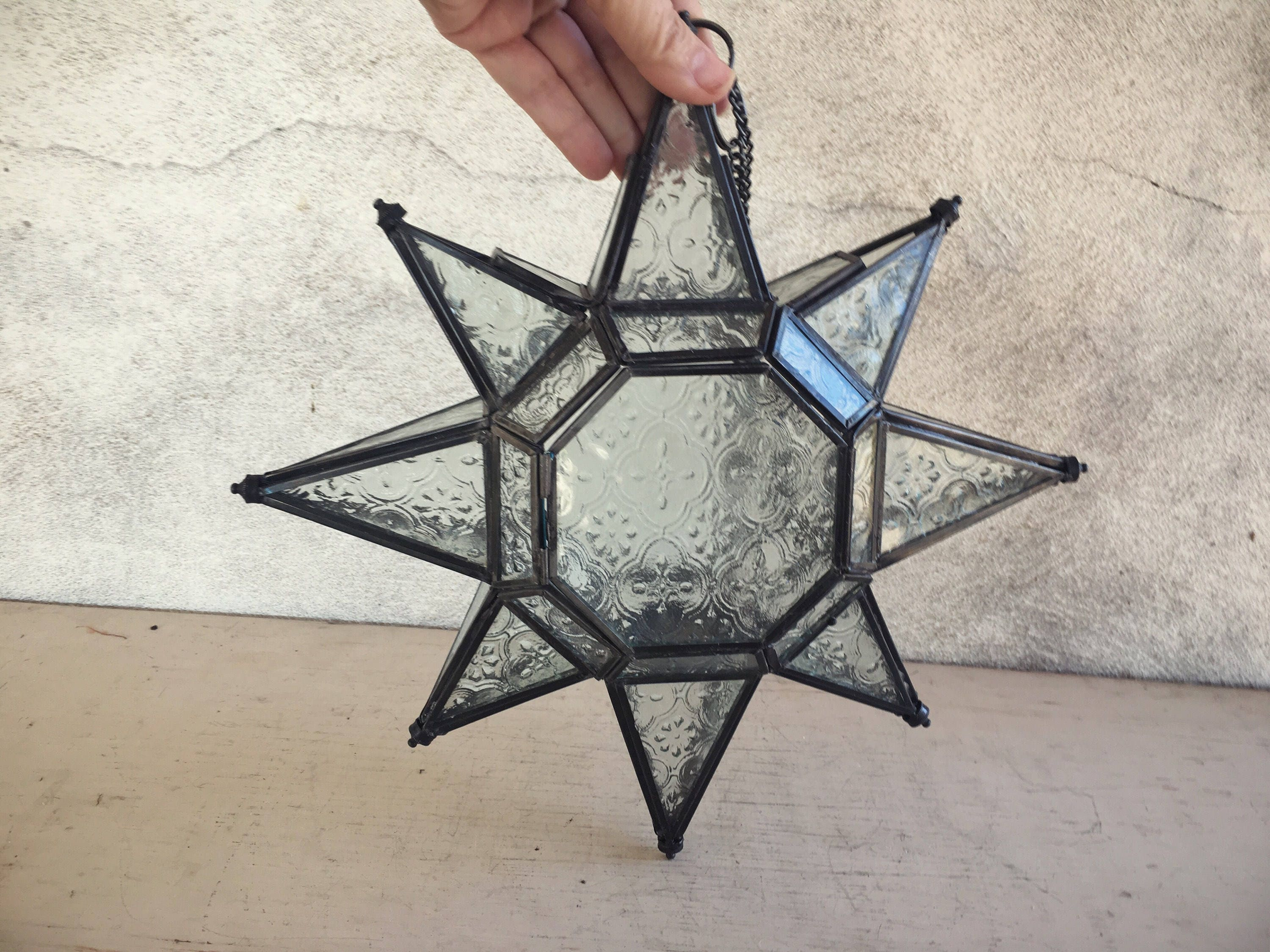 Moravian Star Candle Holder Celestial Decor, Moroccan Star