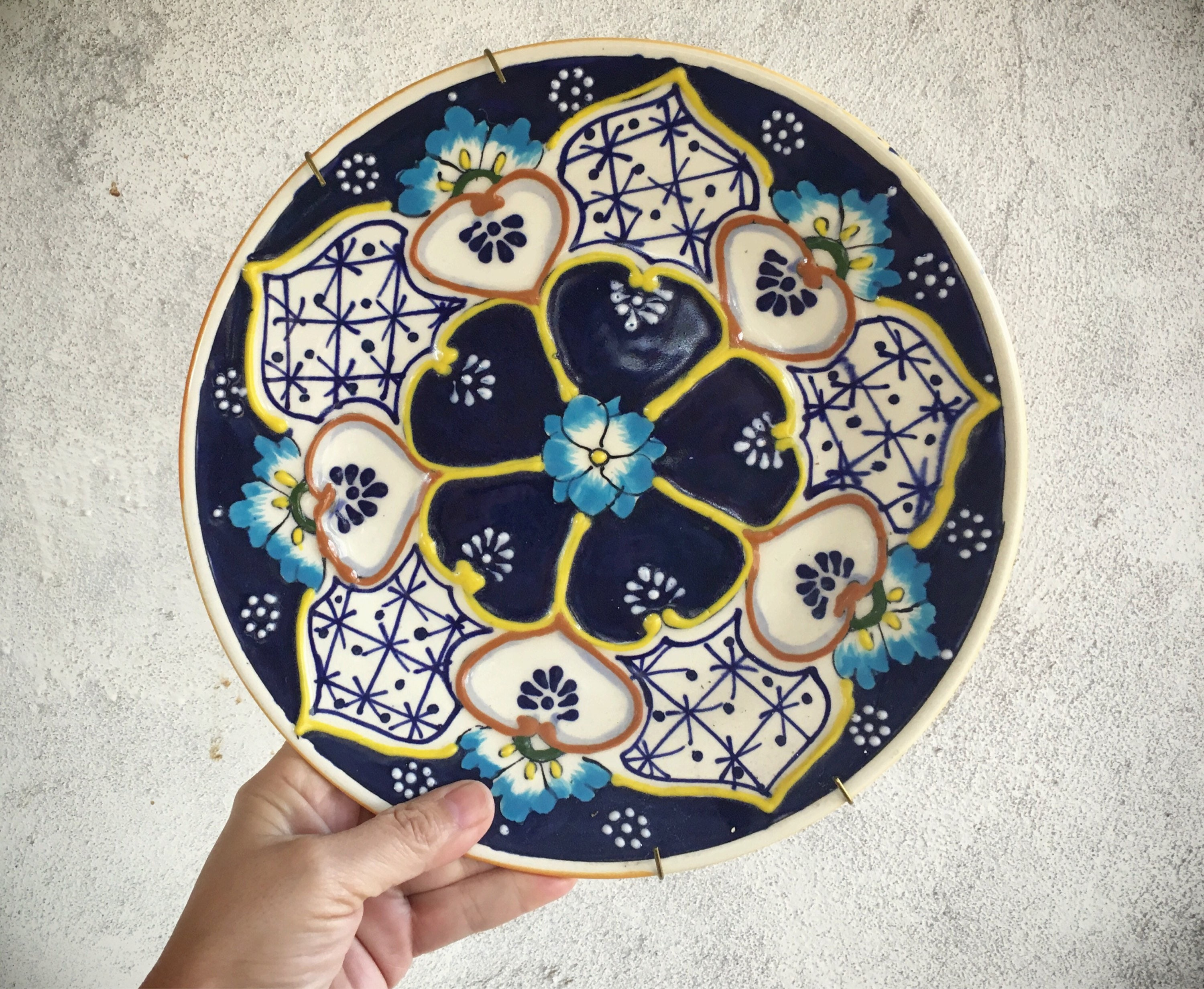 Mexican Plate for Wall Decor Decorative Plates Mexican Pottery Folk Art Mexican Decor  sc 1 st  romaarellano & Mexican Plate for Wall Decor Decorative Plates Mexican Pottery Folk ...