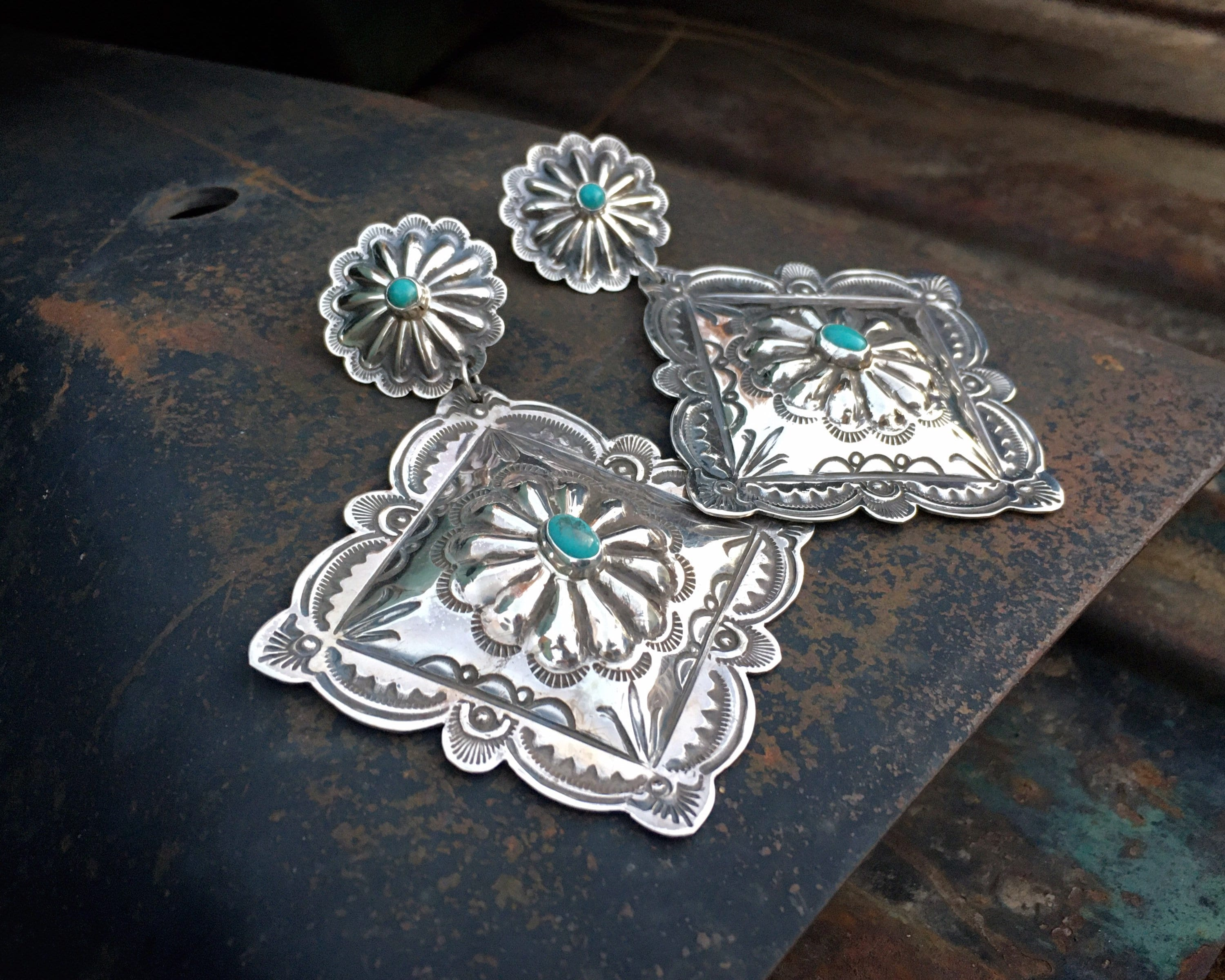 Details about XL Large Native American Navajo Sterling Silver ...