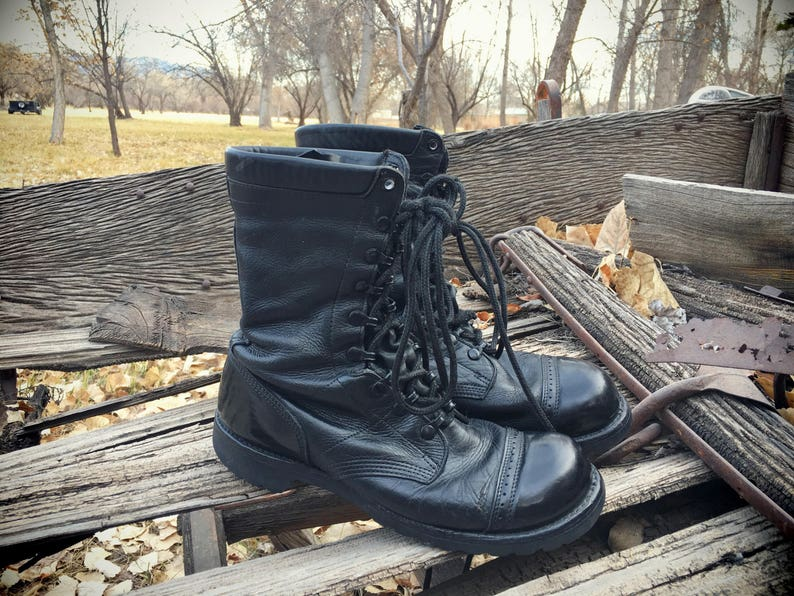 Corcoran Made in USA Lace Up Black Paratrooper Jump Boots  36d432bf70