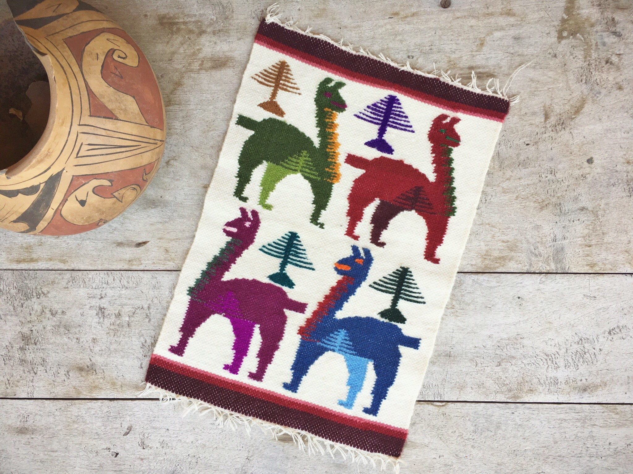 Woven Wool Placemat Or Small Table Runners Llamas Alpacas