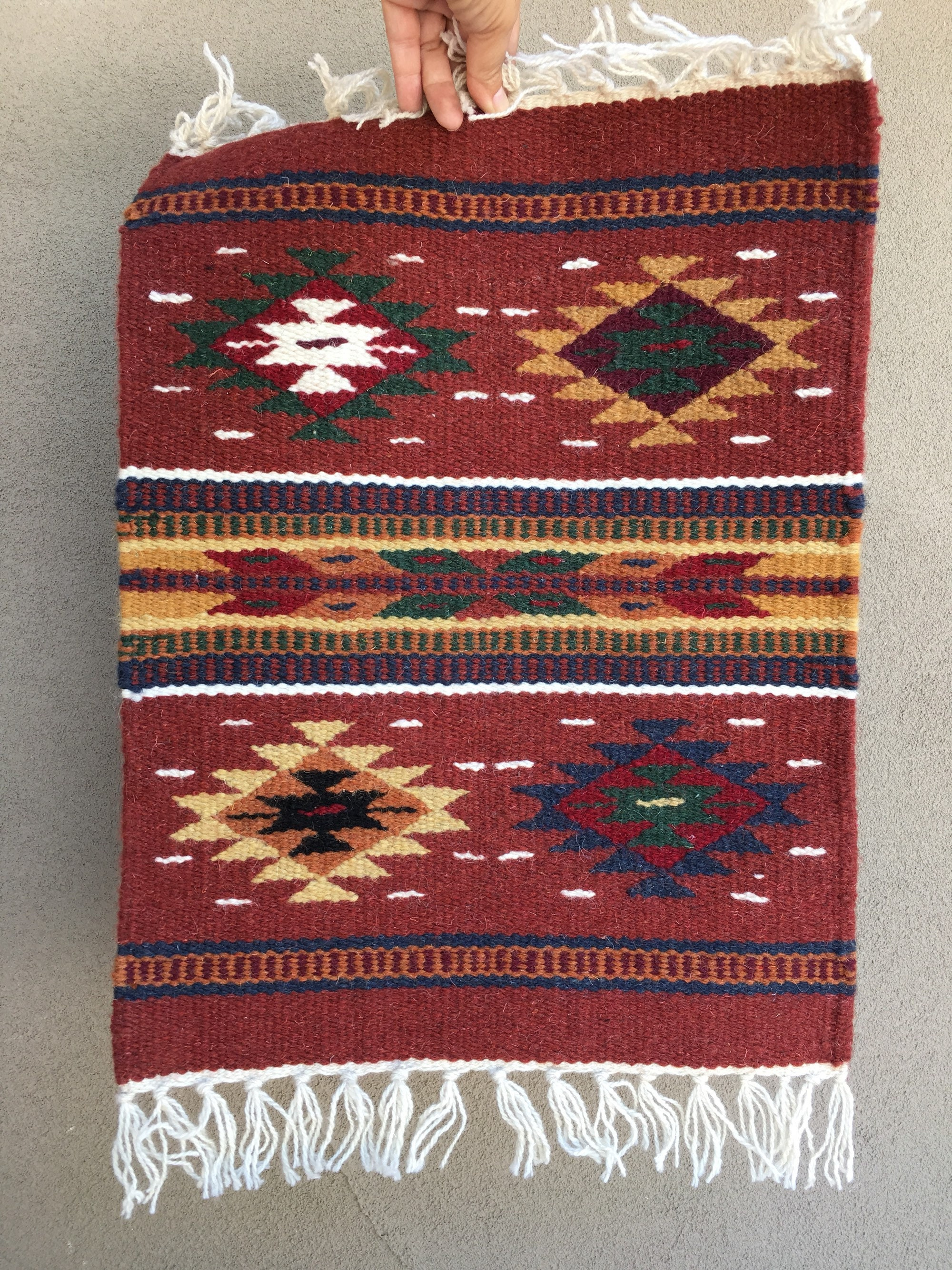Woven Wool Placemat Wall Hanging Tapestry Or Table Runner