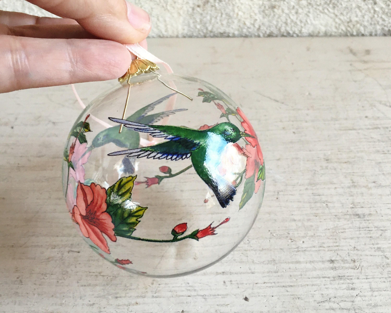 Gallarie II Hand Crafted Glass Hummingbird Ornament