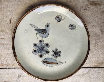 Vintage Ken Edwards Small Plate Tonala Pottery Salad Plate, Kitchen Decor Mexican Pottery