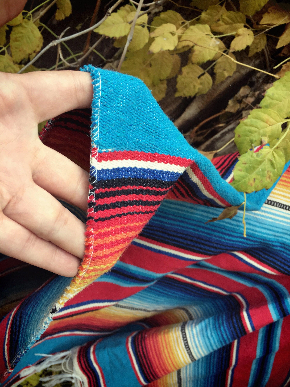 Vintage Mexican Poncho Serape Blanket Men s Poncho Women s Ponchos 502cbba8d3