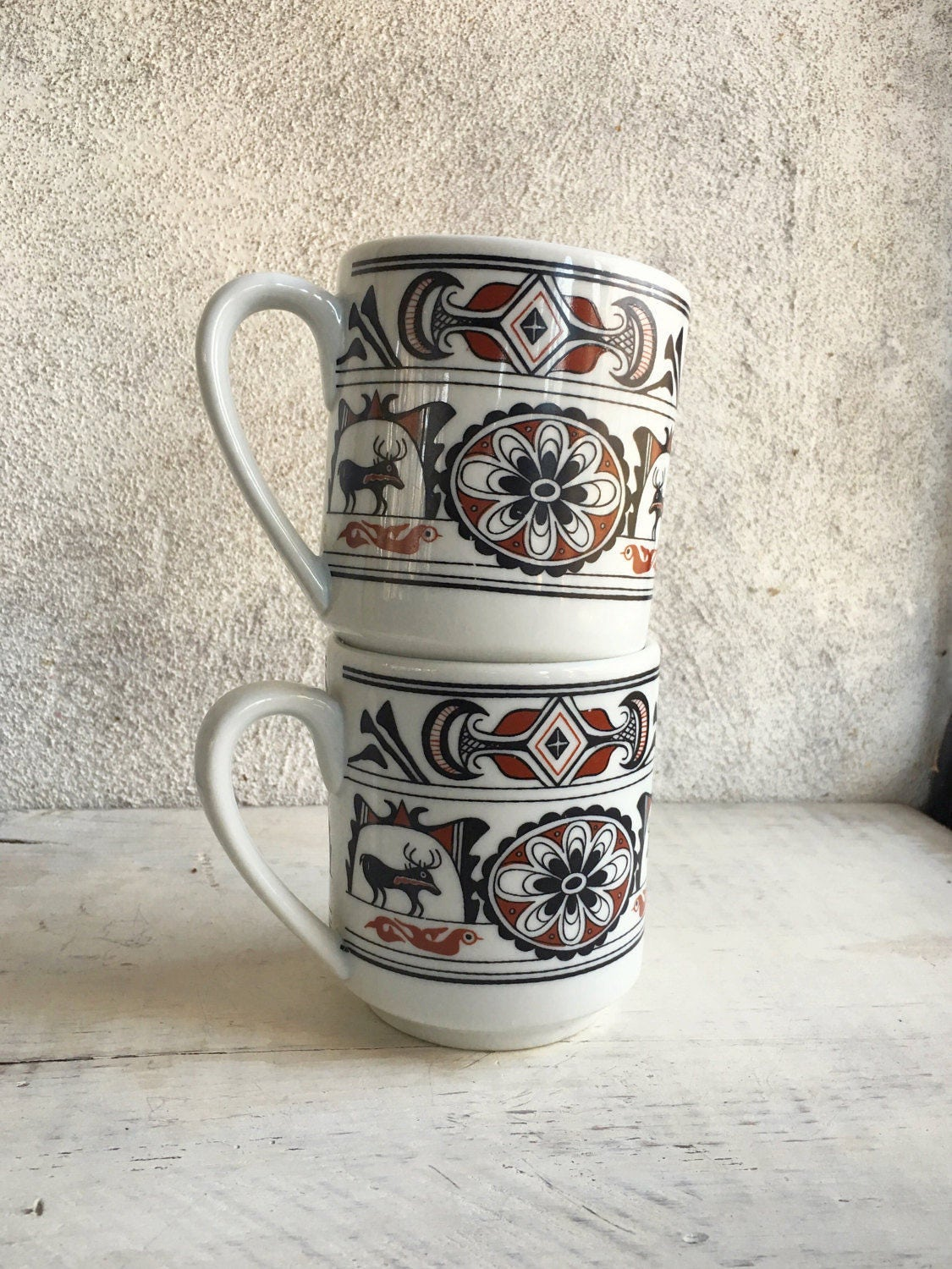 Vintage Southwestern mug set Native American inspired ...