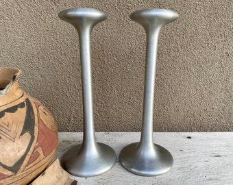 Two Vintage Carl Ojerstam IKEA Tealight Candle Holders Steel, Kagla Design, Scandinavian Decor