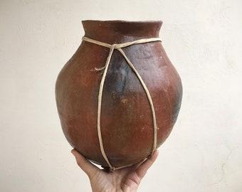 Mexican Pottery Tarahumara Indian Water Jug Pot Primitive Decor, Mexican Decor, Southwestern Garden Spill Pot