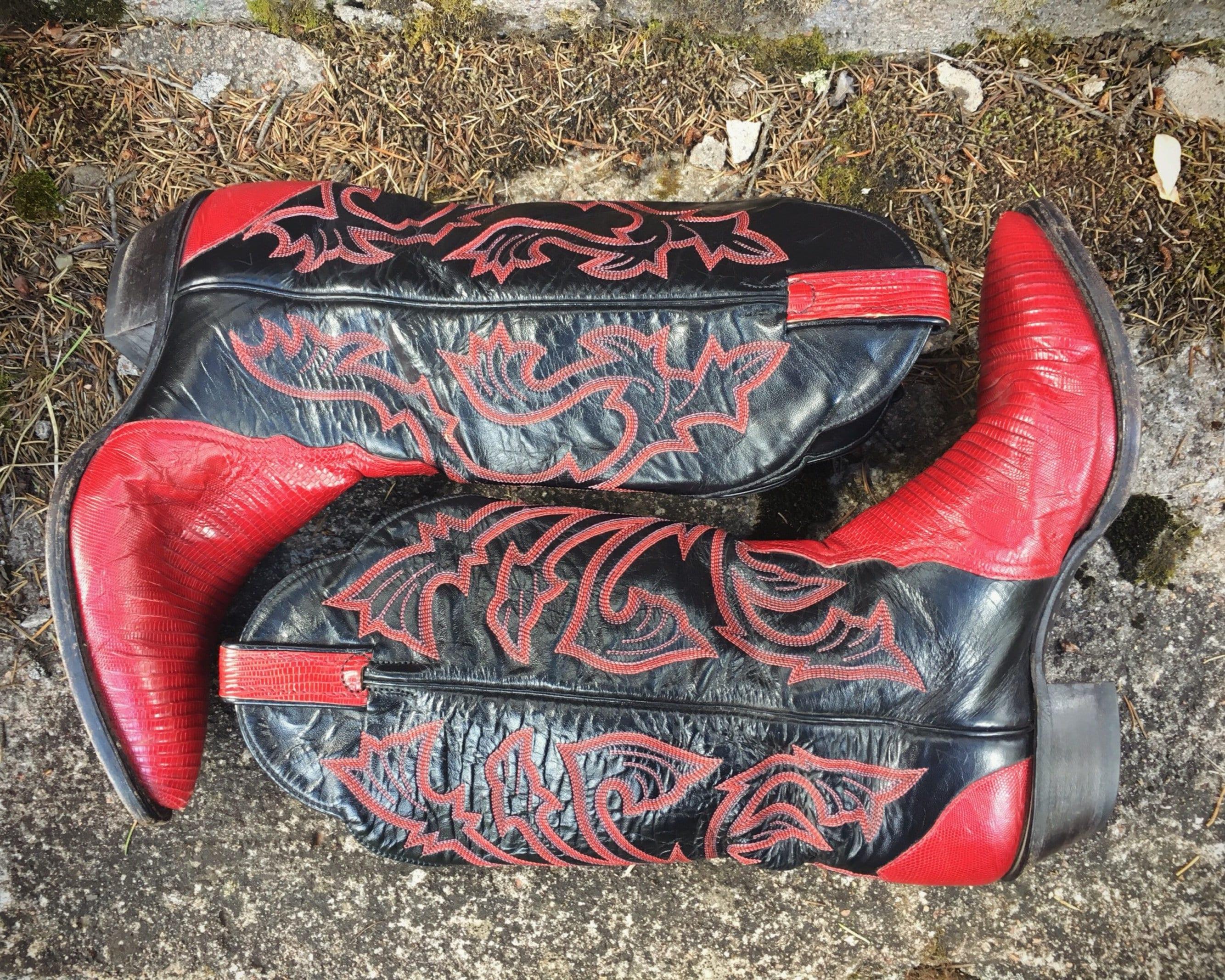 fbeb6336623 Vintage Tony Lama Cowboy Boots for Women Size 9 M (Runs Small ...