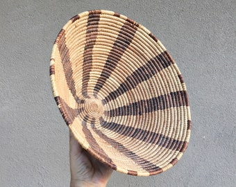 Grass and Willow Woven Basket Bowl Pima Papago or Apache, Southwestern Decor, Coiled Basket,