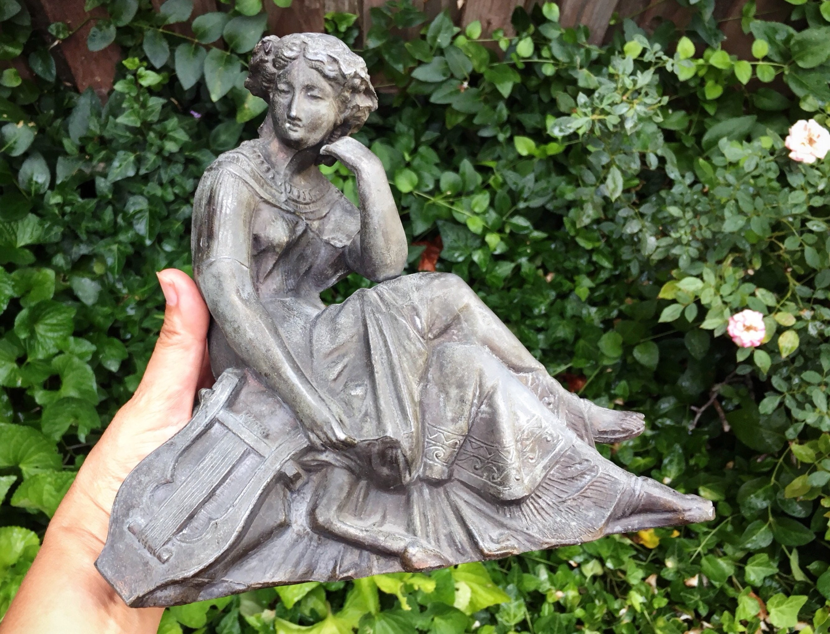 Cast Metal Vintage Lady Garden Decor Art Noveau Style, Garden Art, Outdoor  Statues, Rustic Garden Statuary, Rustic Decor, Vintage Gifts