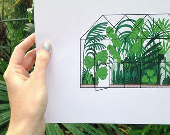A4 Greenhouse Print