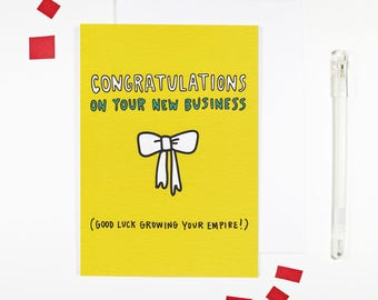 congratulations on your new business card