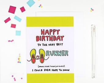 Happy Birthday Runner Card For Runners Joggers