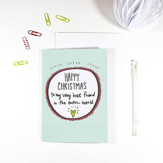 Frohe Weihnachten Freundin.ähnliche Artikel Wie Beste Freundin Weihnachtskarte Frohe