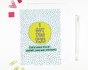 Ich habe Sie diese Karte für Freunde Komfort Liebe und schöne Sachen senden Liebe senden Komfort Freundschaft Karte denken an Sie