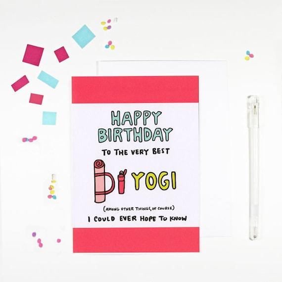 Carte De Joyeux Anniversaire Yogi Yoga Anniversaire Pour Les Amateurs De Yoga