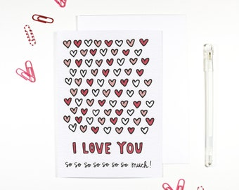 I Love You So Much Romantic Card Anniversary Card