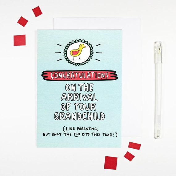congratulations on your grandchild card for new grandparents etsy