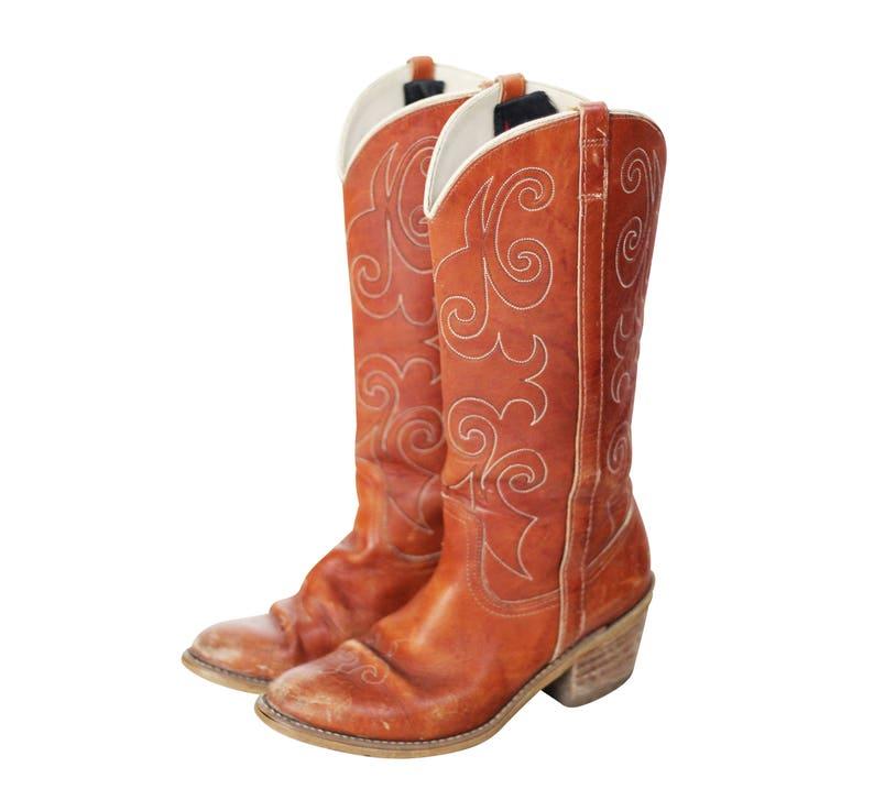 64190d27a0b Vintage Dingo Brown Western Boots Sz 7 Women's
