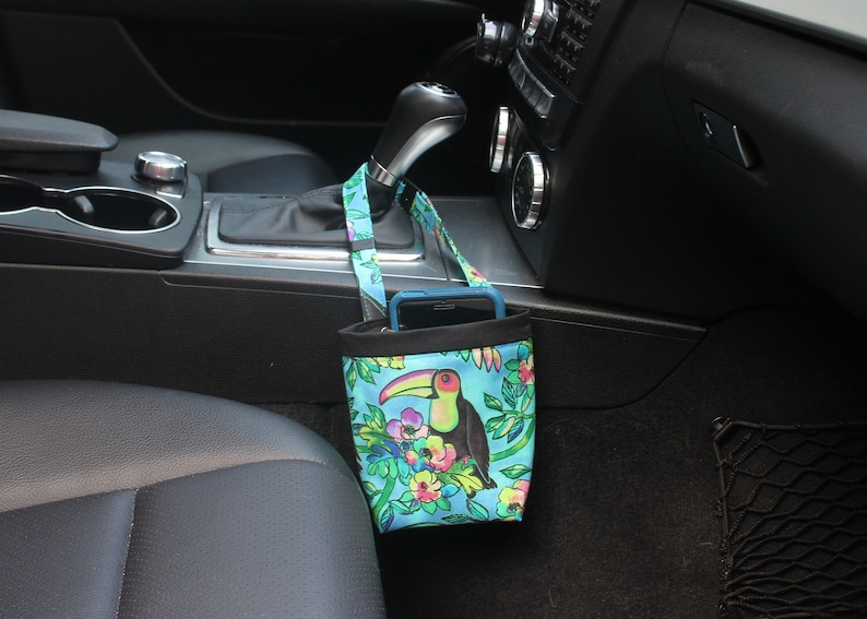 CAR CELLPHONE Caddy Toucans in Blue Sunglasses Case image 0