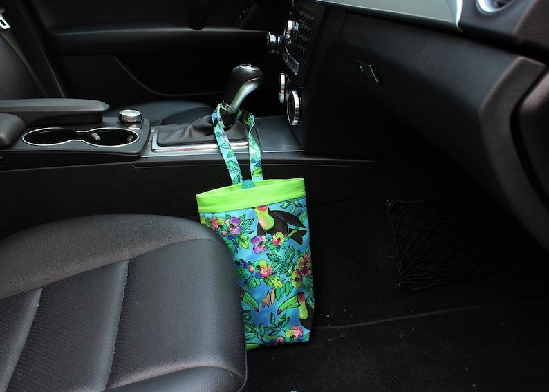Car Trash Bag Toucans in Blue Women Car Litter Bag Auto image 0