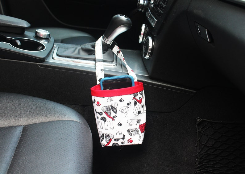 CAR CELLPHONE Caddy Scribble Dogs by Timeless Treasures image 0