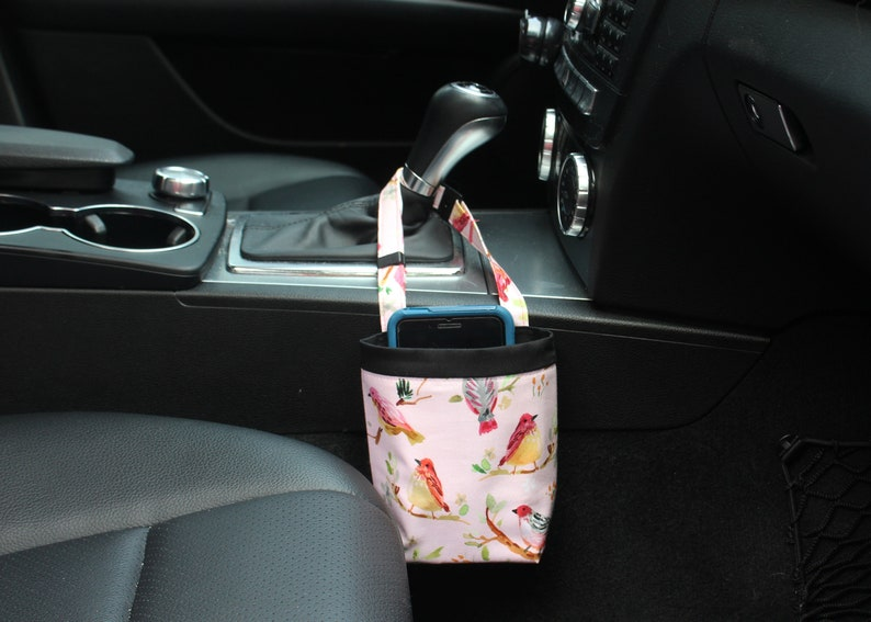 CAR CELLPHONE Caddy Birds on branches Birdies Blush color image 0