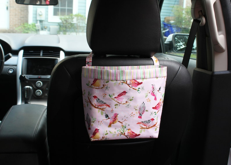 Headrest CADDY Birds on branches Blush Color Women Car image 0