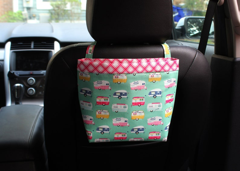 Car HEADREST CADDY Small CAMPERS in Mint Green 4 Women Car image 0
