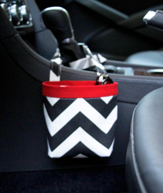 CAR CELLPHONE CADDY, Black Chevron, Cellphone Holder, Sunglasses Case, Mobile Accessories, Beach Chair Holder, Smartphone Case, Golf Gifts