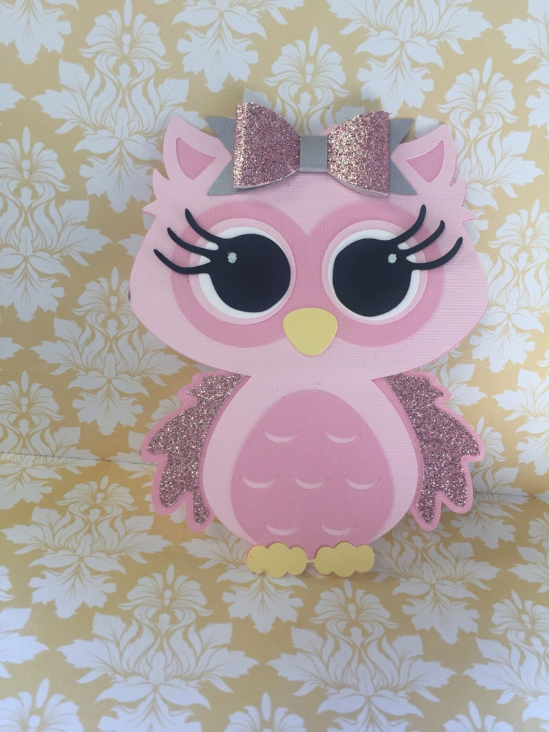 Owl Birthday Invitation 25 Pink Inspired Image