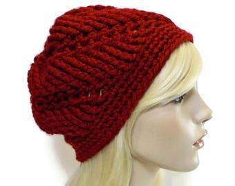 f9c4e185d8d4e Crimson red beanie