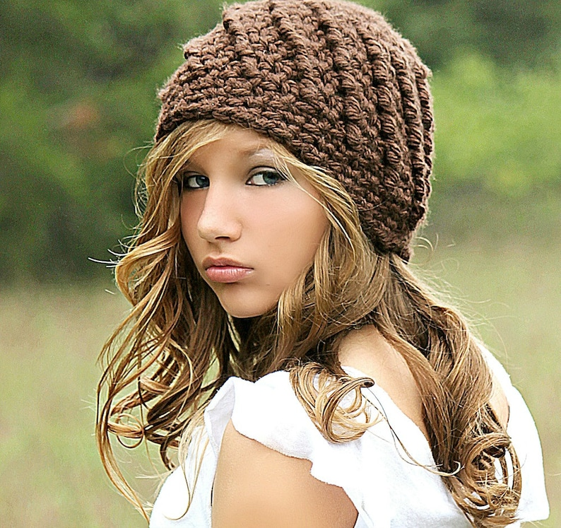35734027a27b0 Brown Beanie Hat Beanies Chunky Hat for Women Teen Girl Fall