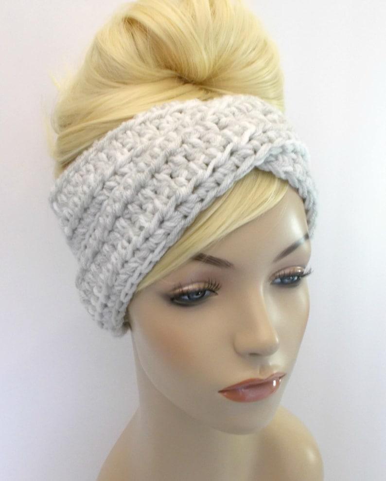 Turban Headband Crochet Headband White Headband Winter  258d69b733eb