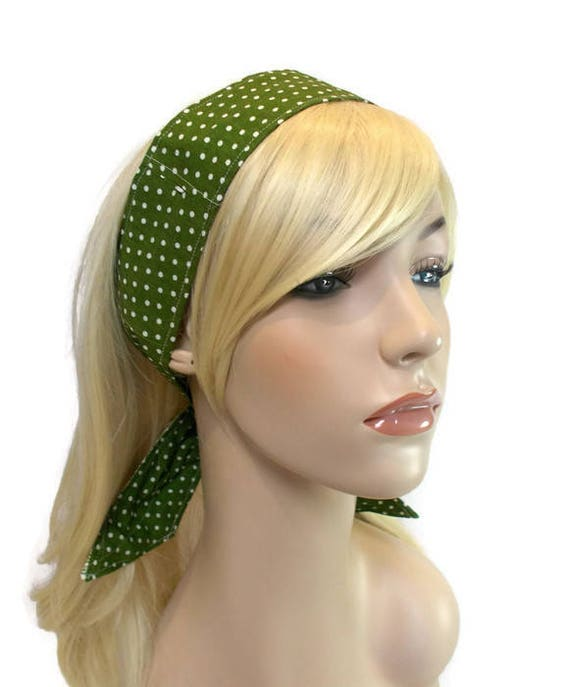 Green Headband Womens Headbands Reversible Headband Wired  88aeac7736f