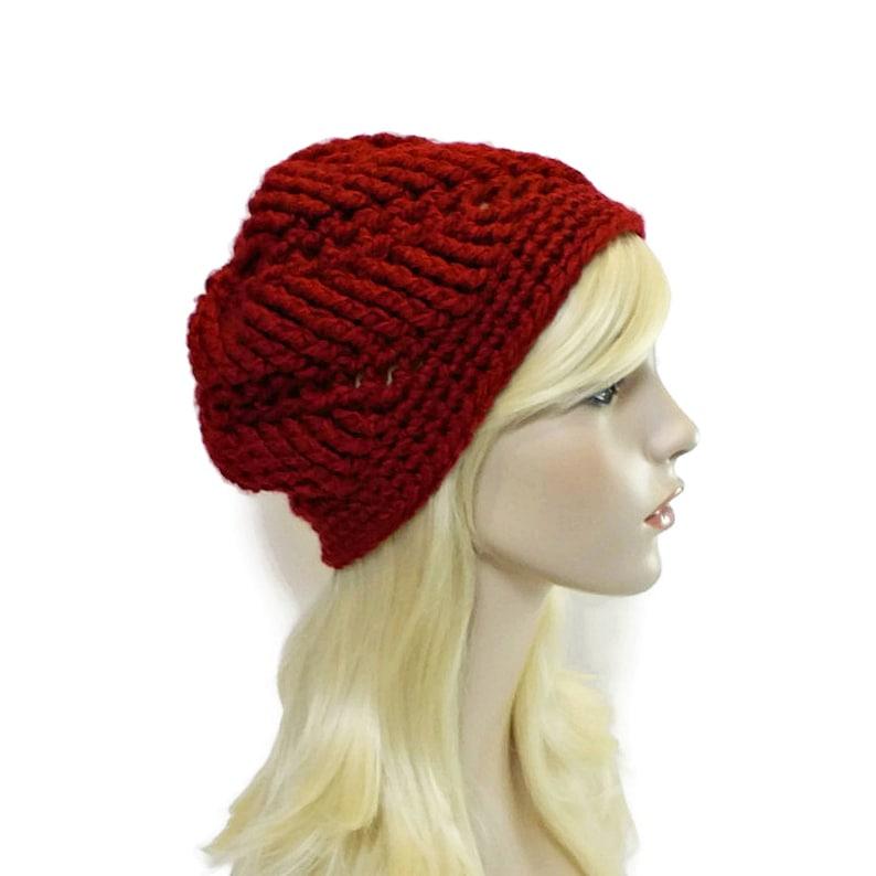 3c328d31ef3 Red Beanie Hat Dark Red Hat Unique Beanies for Women Hats