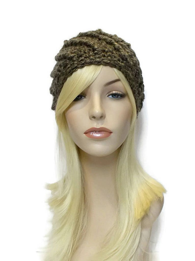 Gray Brown Beanie Hat Cute Beanies Chunky Hat for Women Teen  d0745729f94