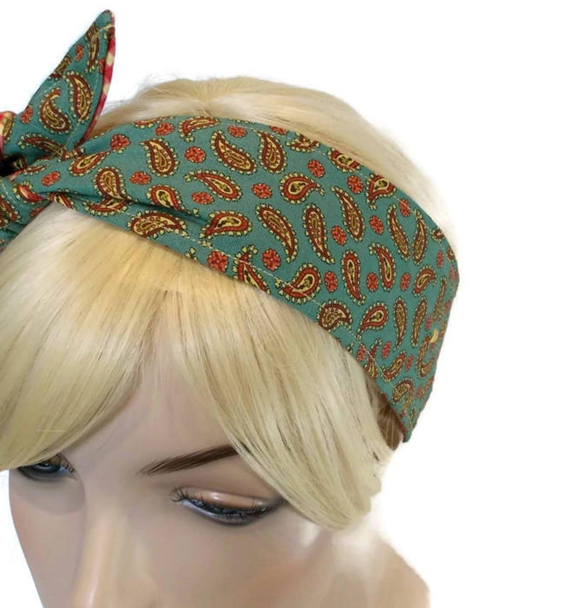 Green Headband Red Headband Wired Headband Womens Headband  afe3af50222