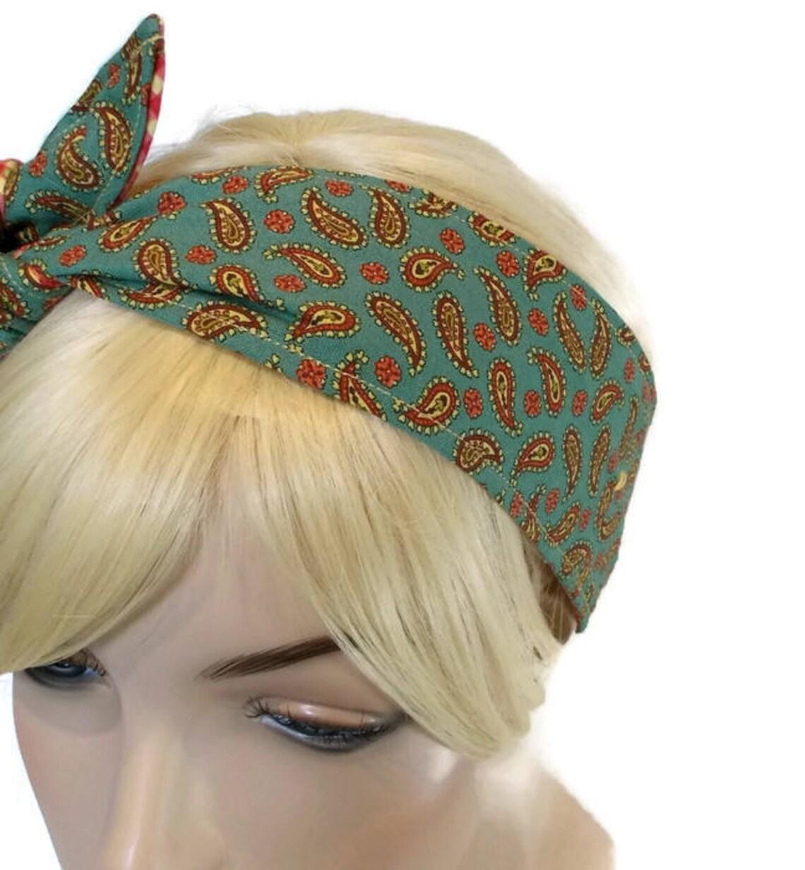 Green Headband Red Headband Wired Headband Womens Headband  c782b579a0b