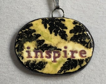 Inspire Pendant with Ferns