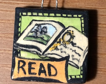 Read Pendant with Open Book