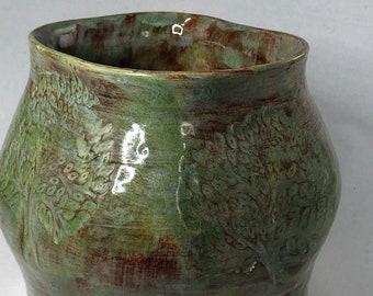 Green Tree Altered Vase